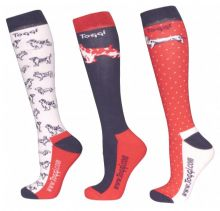 TOGGI PACK OF 3 HAWTHORN DOGS WINTER WHITE SOCKS - RRP £17.00